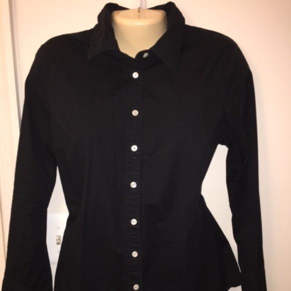 47d019bd2 J. Crew Tops   J Crew Womens Black Buttondown Shirt L   Poshmark